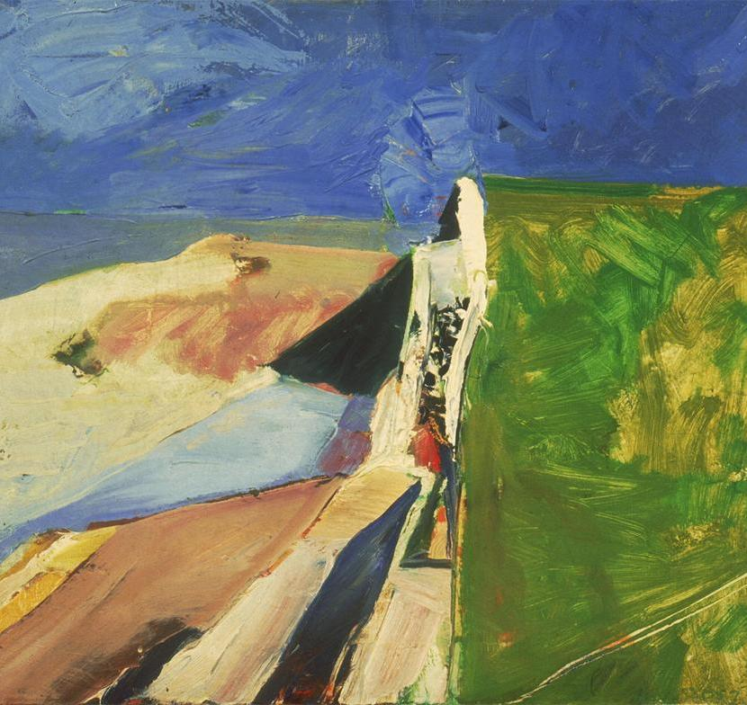 sea wall-diebenkorn